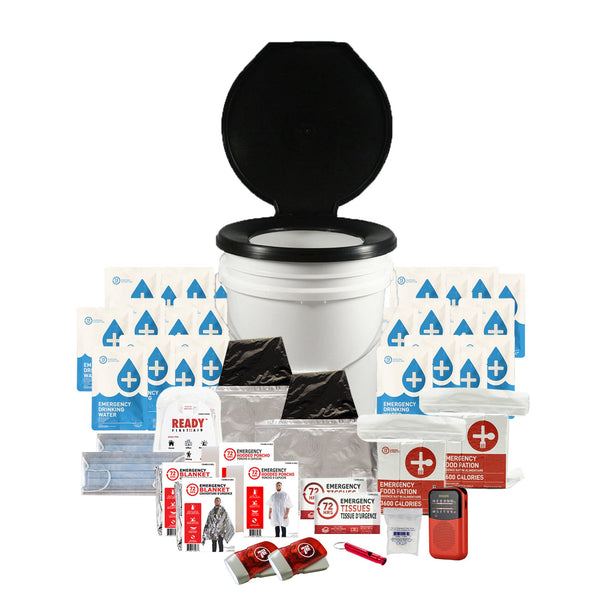 2 Person 72HRS Essential Toilet - Emergency Survival Kit