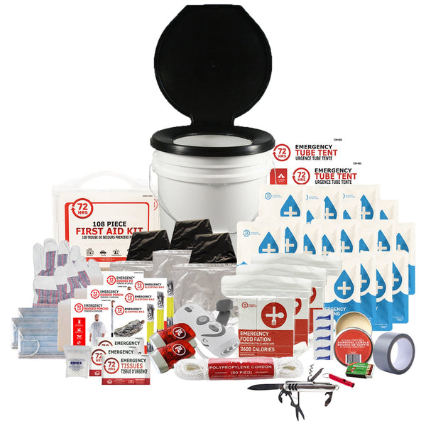 3 Person 72HRS Deluxe Toilet - Emergency Survival Kit