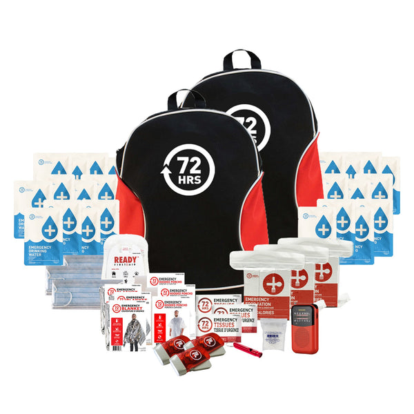 3 Person 72HRS Essential Backpack - Emergency Survival Kit