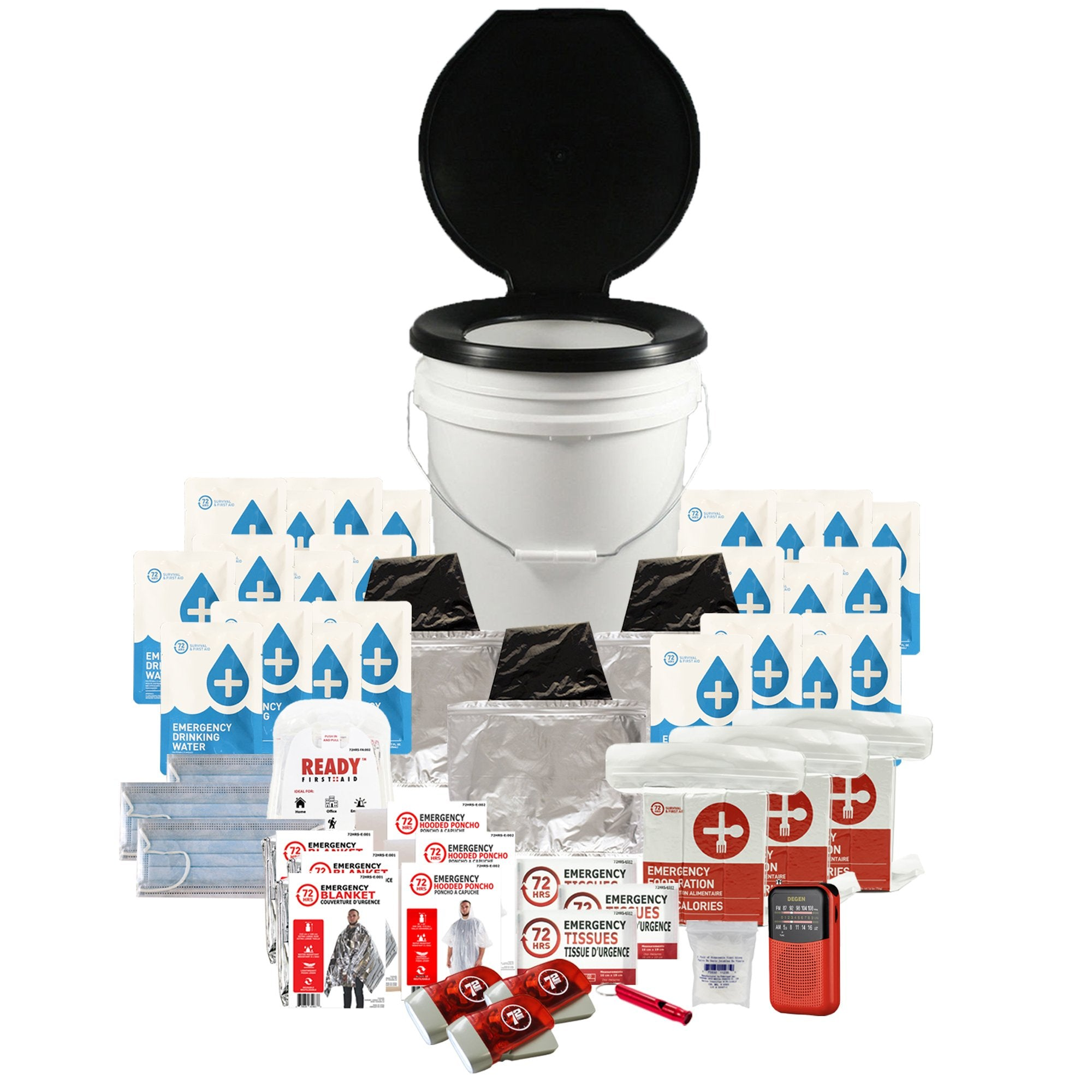 3 Person 72HRS Essential Toilet - Emergency Survival Kit