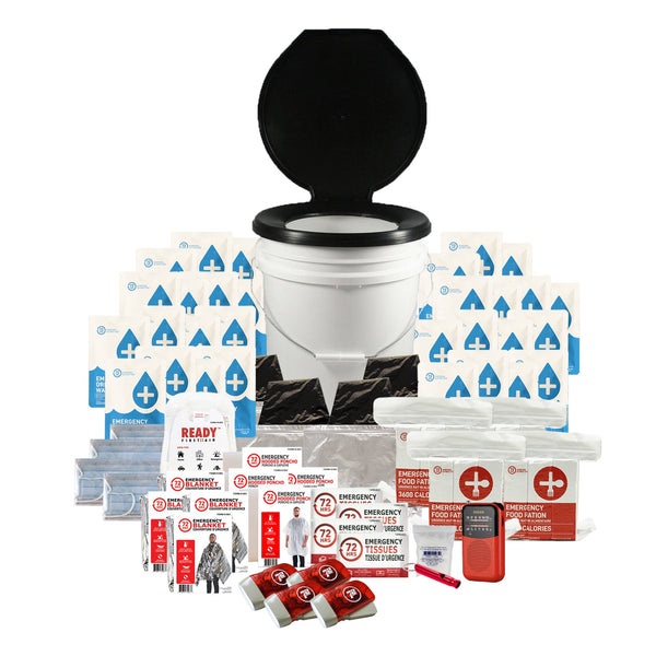 4 Person 72HRS Essential Toilet - Emergency Survival Kit