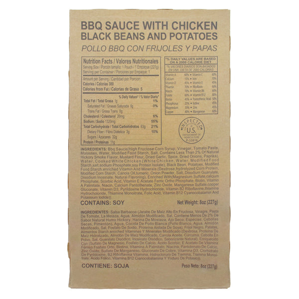 BBQ Sauce with Chicken, Black Beans and Potatoes - MRE Star