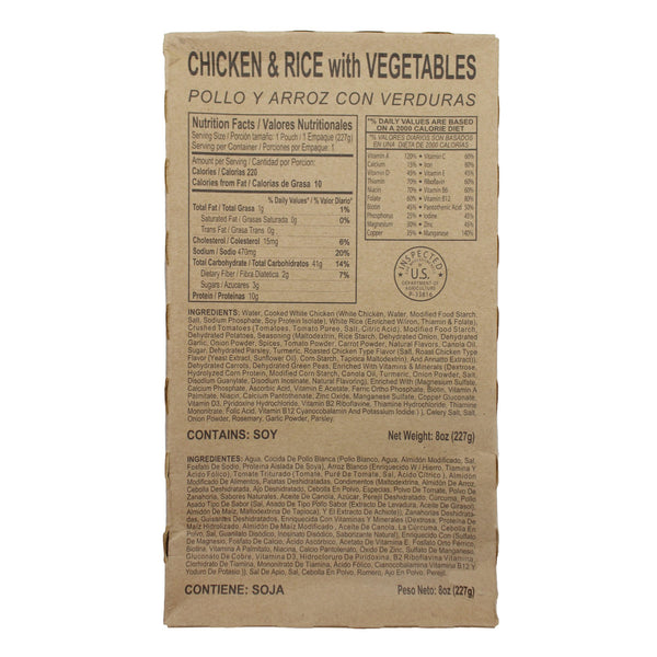Chicken and Rice with Vegetables - MRE Star