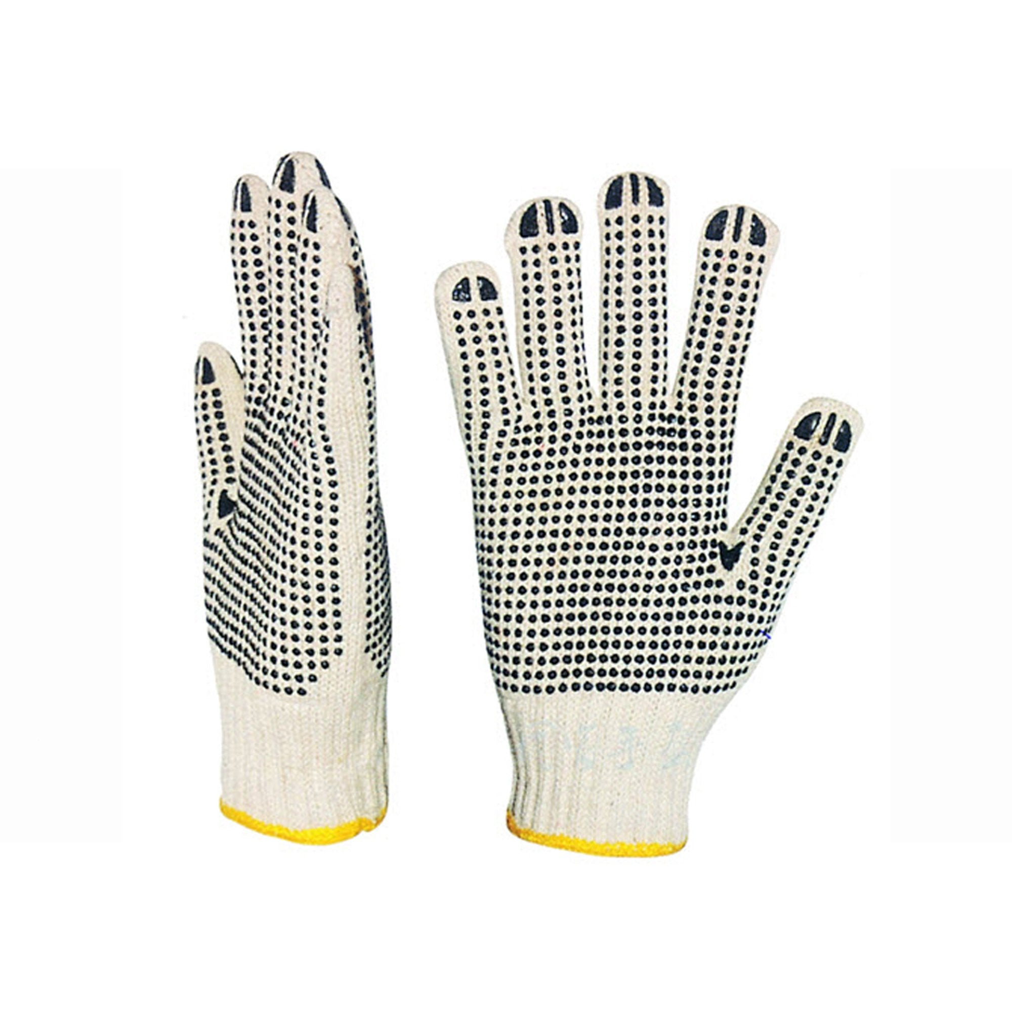 Gloves, Cotton Knitted (1 Side with Dots)