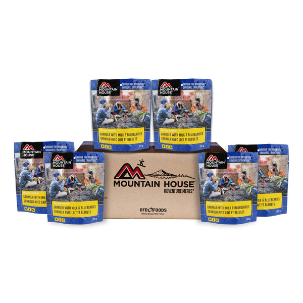 Granola with Milk and Blueberries - Case of 6 (Mountain House®)