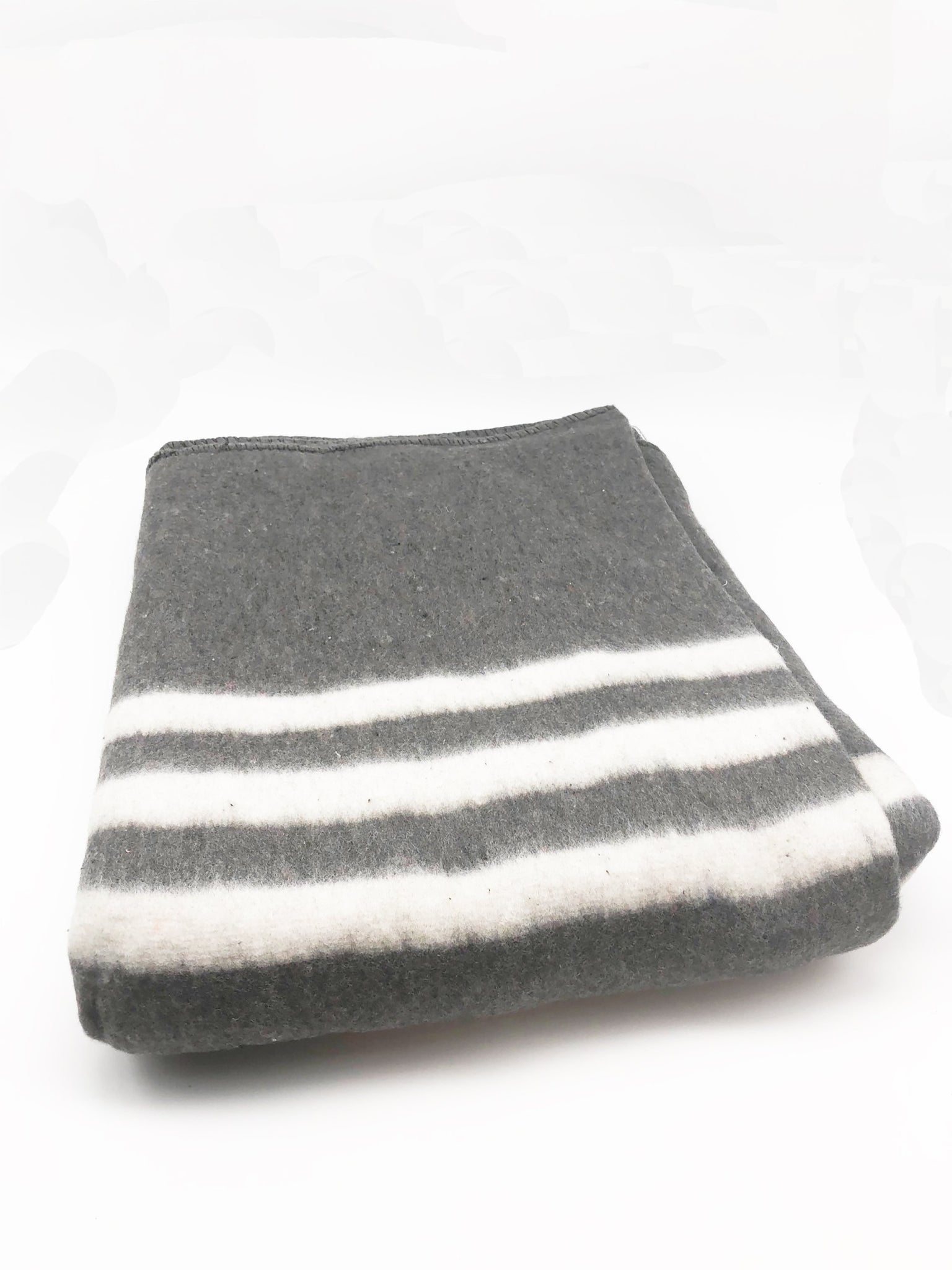 Gray and White Cotton Blanket