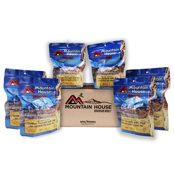 Pro-Pak Chicken Teriyaki with Rice Pouch One Serving - Case of 6 (Mountain House®)
