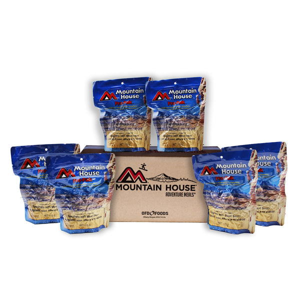 Pro-Pak Spaghetti w/ Meat Sauce Pouch One Serving - Case of 6 (Mountain House®)