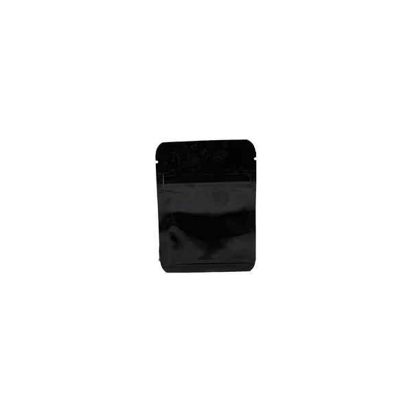 "Black Shiny Mylar Bag (Ziplock) - 5.0 Mil (3.75"" x 4"")"