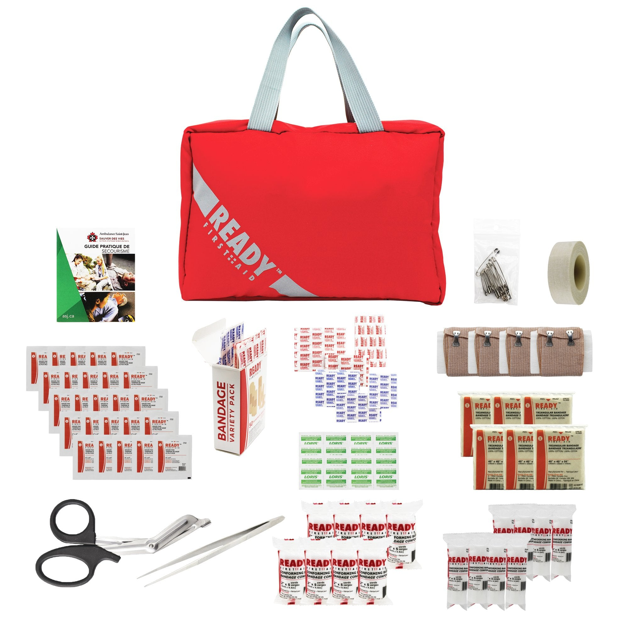 Quebec Regulation First Aid Kit 1-50 Employees/ Trousse de Premiers Soins 1-50 employees