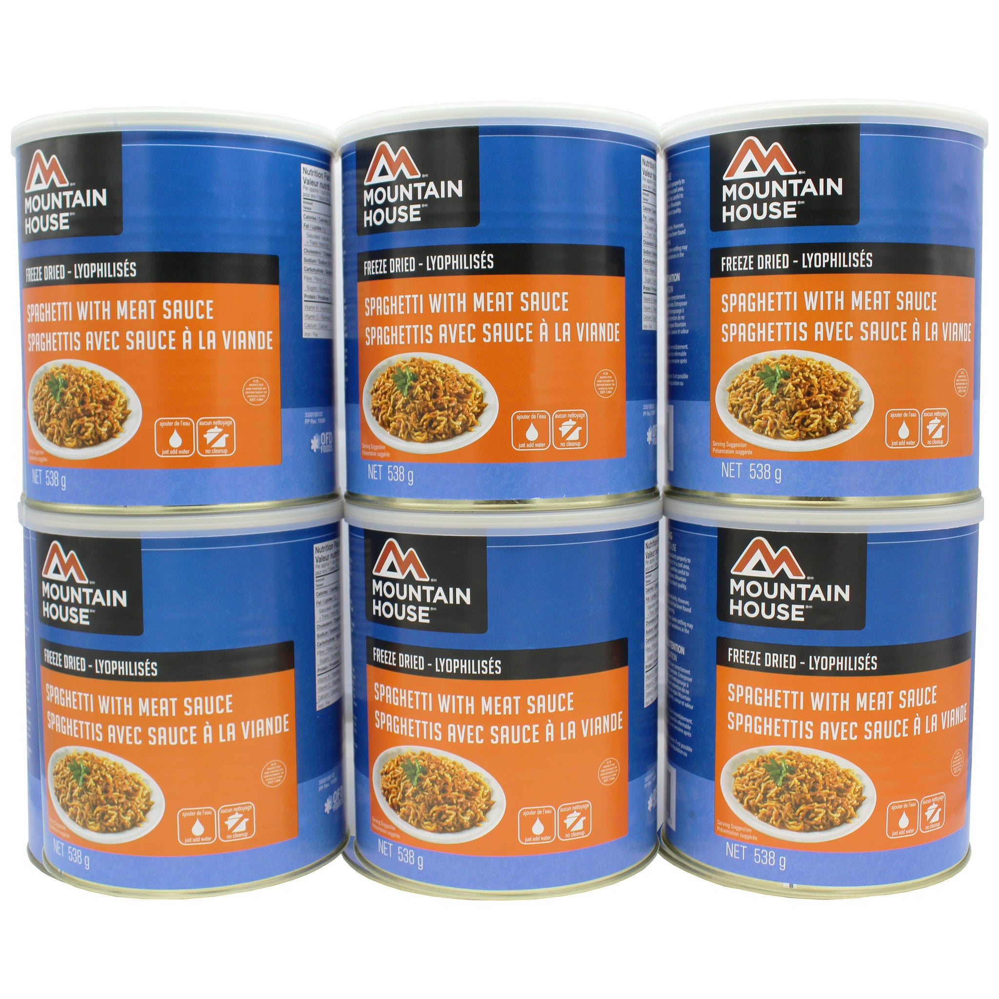 Spaghetti with Meat Sauce #10 Can Package (Mountain House®)