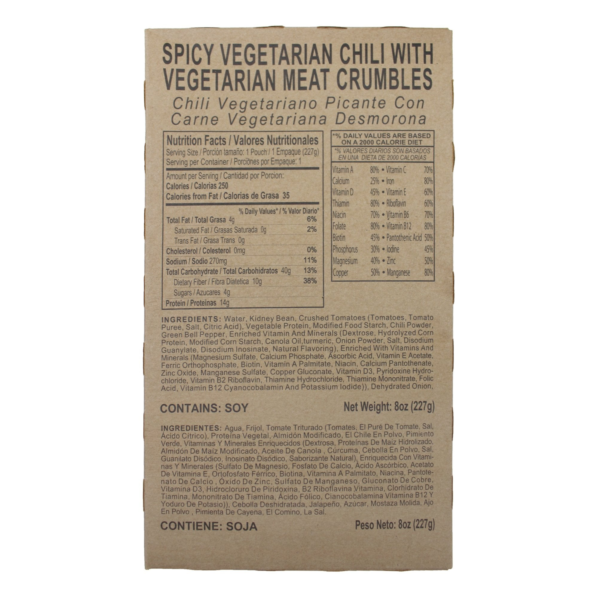 Spicy Vegetarian Chili with Vegetarian Meat Crumbles - MRE Star