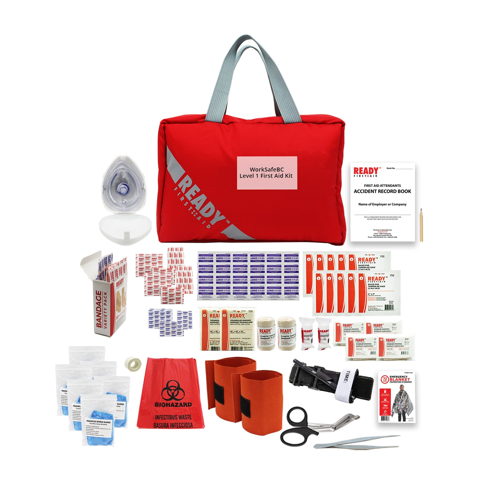 WorkSafeBC BC Level 1 First Aid Kit - Ready First Aid™