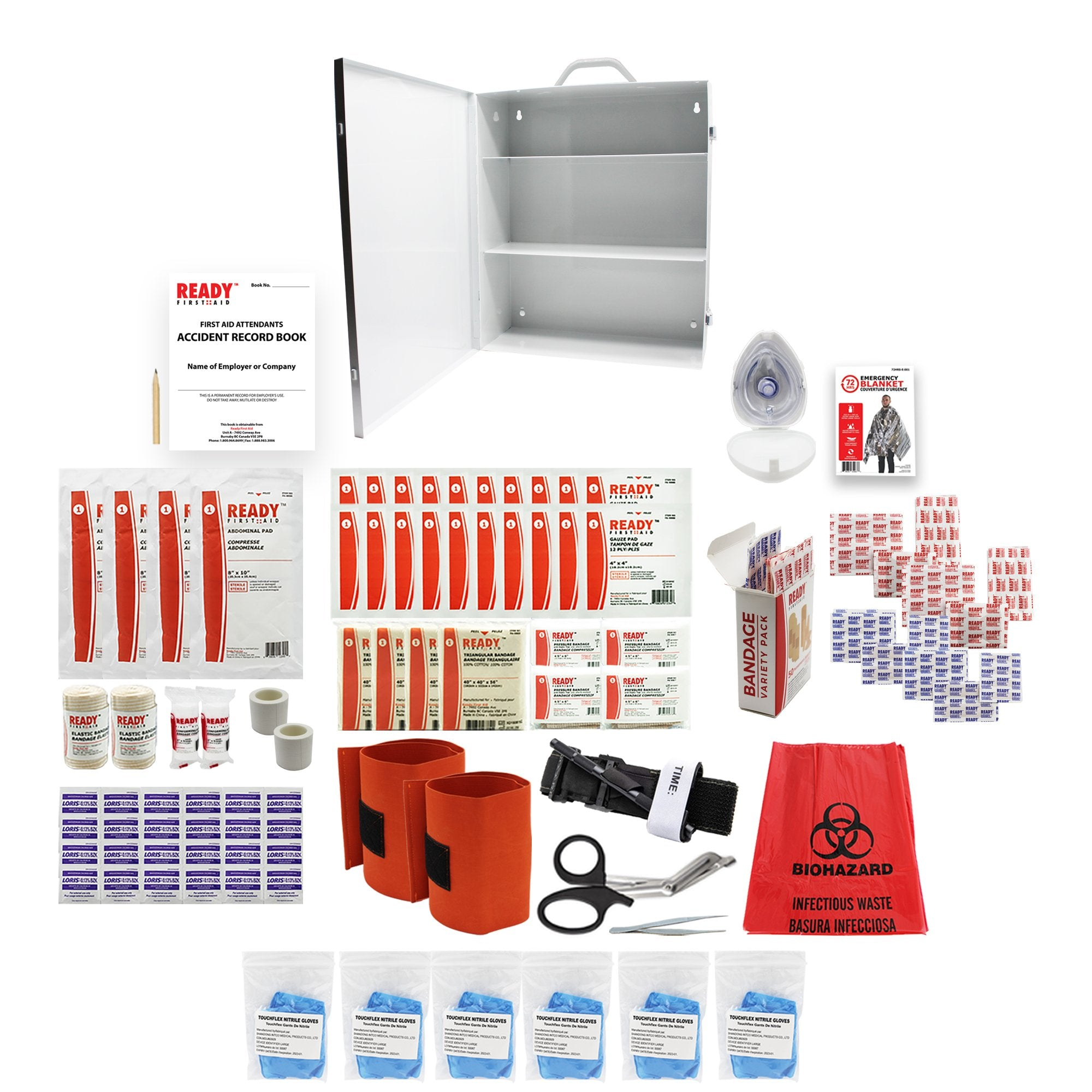 WCB Level 2 Metal Case First Aid Kit - Ready First Aid