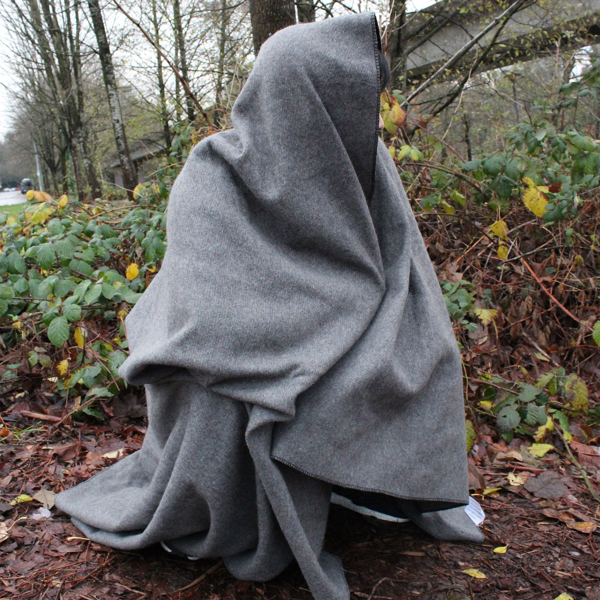 "Wool Blanket (Gray Colour) (90% Wool), 66"" x 90"" - Ready First Aid™"