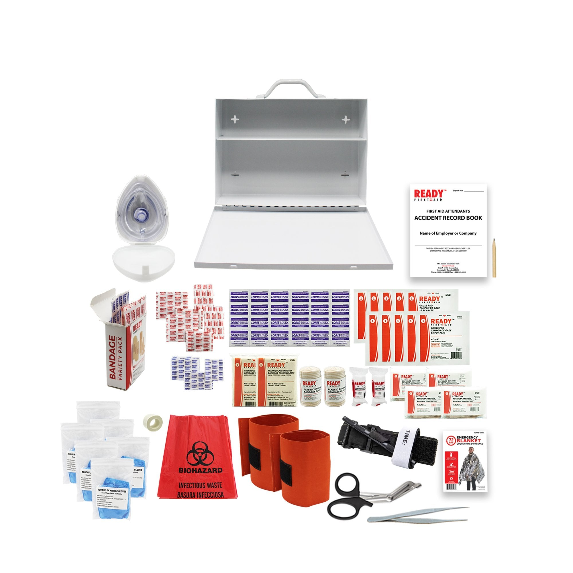WCB Level 1 Metal Case First Aid Kit - Ready First Aid