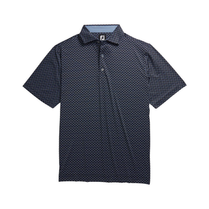 Men's Lisle Ogee Print Spread Collar Polo