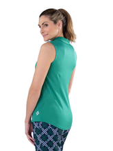 Load image into Gallery viewer, Women's Emerald Sleeveless Golf Polo