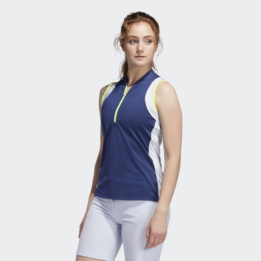 Women's Color-block Sleeveless Polo Shirt w/ EPGCC Logo