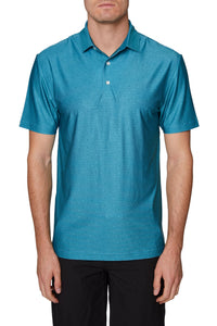 Men's 3 Button Diamond Print Polo