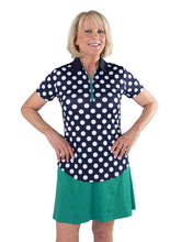 Load image into Gallery viewer, Women's Polka Dot Printed Polo