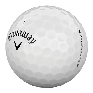 Supersoft White Golf Balls (Dozen)