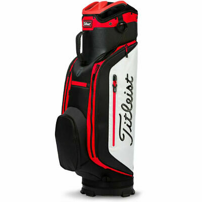 Club 7 White/Black/Red Lightweight Cart Golf Bag