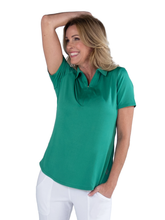 Load image into Gallery viewer, Women's Emerald Performance Polo