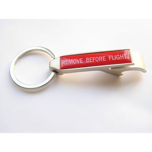 Remove Before Flight Key Ring and Bottle Opener