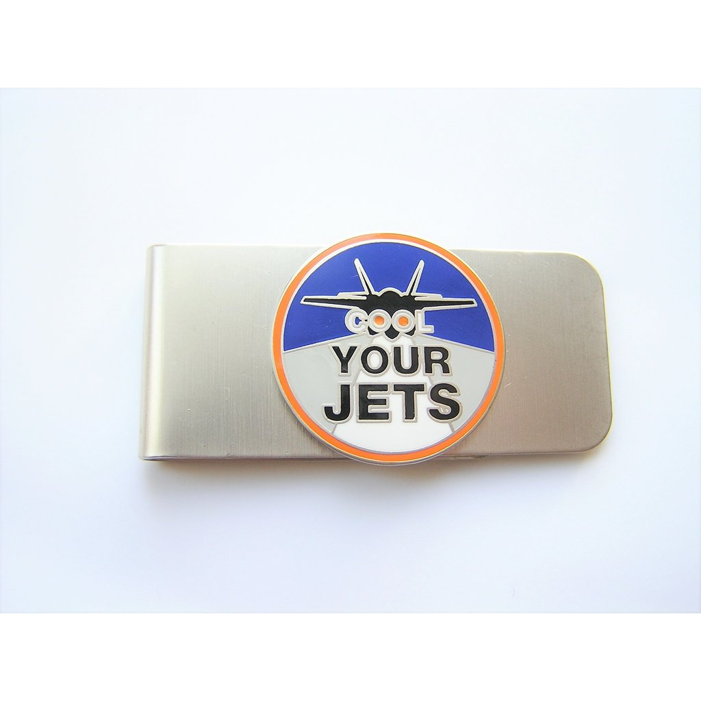 """Cool Your Jets"" Nickel Finish Money Clip"