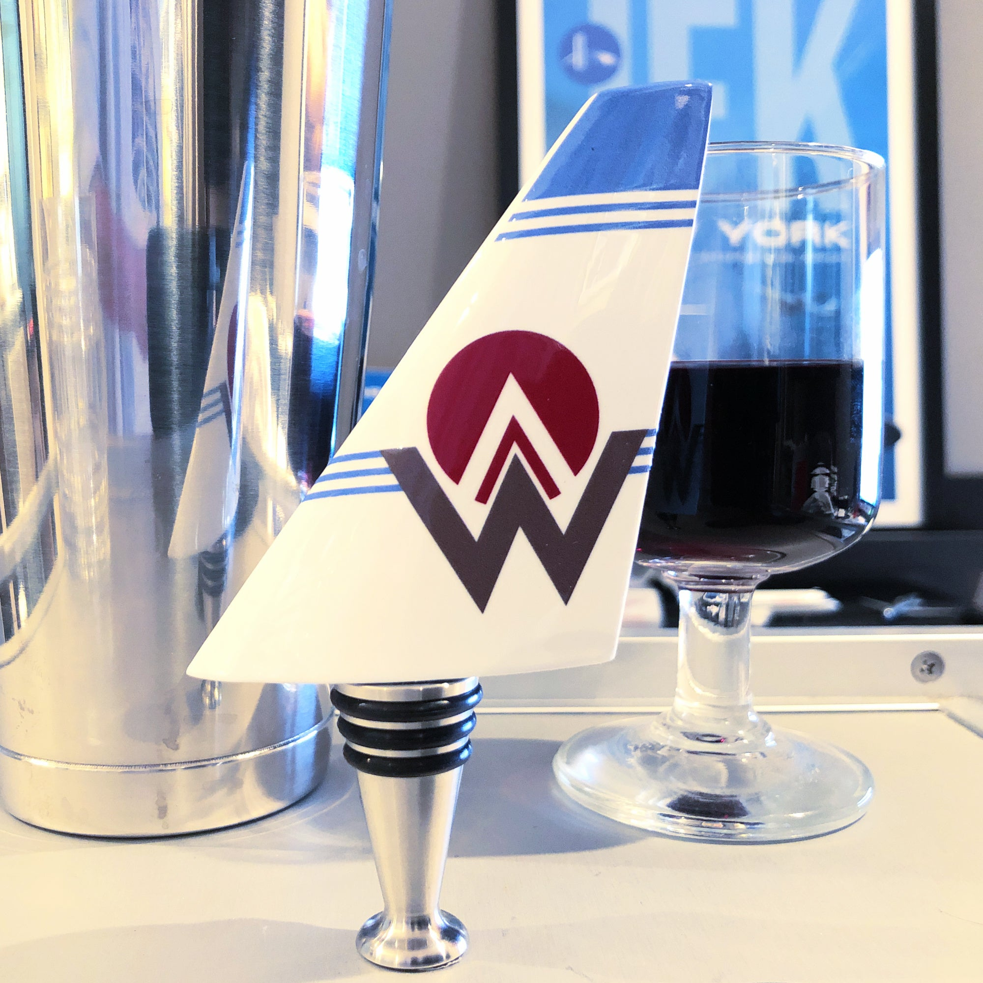 America West Airlines Wine Bottle Stopper
