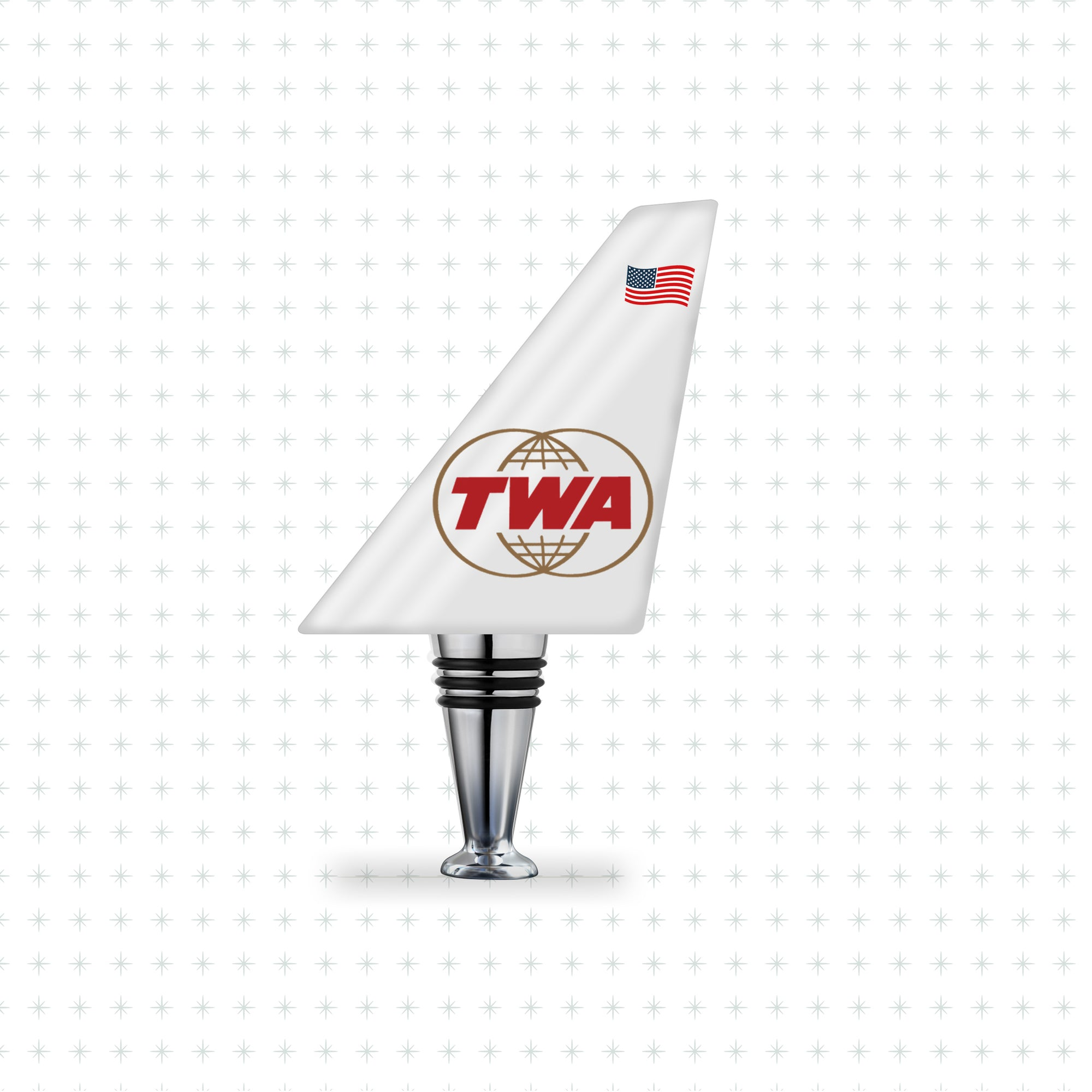 TWA (Double-Globe) - Airline Tails™️ Bottle Stopper