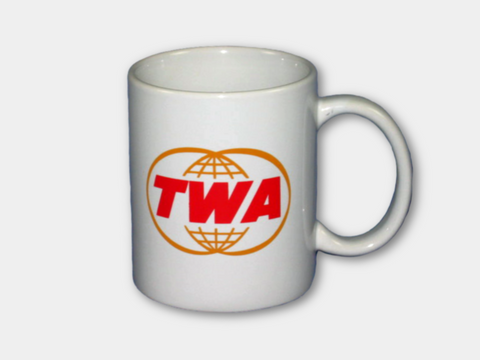 TWA Coffee Mug with Double-Globe Logo
