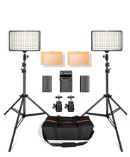 Load image into Gallery viewer, LED Video Lights with Stands (BATTERY POWERED/POWER ADAPTER)