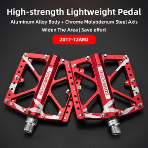 ROCKBROS Road MTB Alloy Bike Pedals Cycling Ultralight Aluminum Alloy 4 Bearings Road MTB Pedals