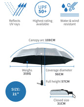 Load image into Gallery viewer, Compact Sun Protective Umbrella UPF50+