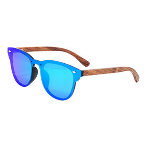Tree Shades - 100% Polarized Bamboo Designer Sunglasses Wood Sunglasses Polarized Uv400 Protection Brand Designer Mirror Square Sun Glasses