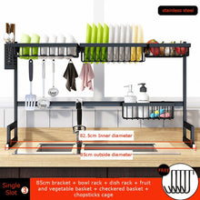 Load image into Gallery viewer, Stainless Steel Kitchen Shelf Organizer Dishes Drying Rack Over Sink Drain Rack Kitchen Storage Countertop Utensils Holder