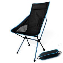 Load image into Gallery viewer, Portable Moon Chair Lightweight Fishing Camping BBQ Chairs Folding Extended Hiking Seat Garden Ultralight Office Home Furniture