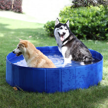Load image into Gallery viewer, Foldable Dog Pool Pet Bath Swimming Tub Bathtub Outdoor Indoor Collapsible Bathing Pool for Dogs Cats Kids Pool
