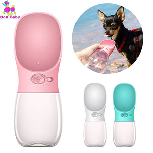 350ML 550ML Portable Pet Dog Water Bottle Travel