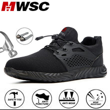 Load image into Gallery viewer, MWSC Indestructible and Invulnerable Steel Shoes - Work Safety Shoes Men Breathable Steel Toe and Steel Mesh Working Boots Anti-smashing