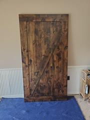 "44"" X 94"" Z Barn Door Kit in Tobacco finish."