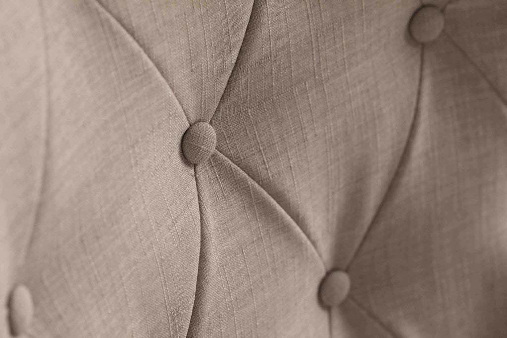 Close up detail of our Elouise Dining Chair with Nailhead Trim