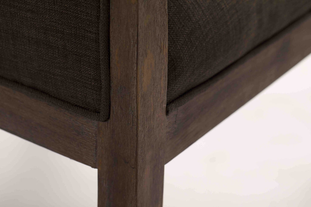 Close up detail of our Bentwood Upholstered Armchair