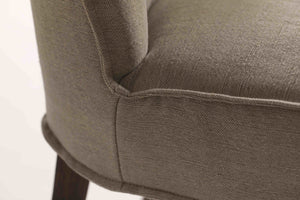 Close up detail of our Stone Twill Aria Dining Chair