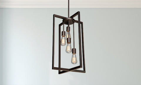 4 Bulb Modern Oil Rubbed Bronze Chandelier