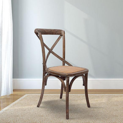 French X-Back Chair in Distressed Sepia finish
