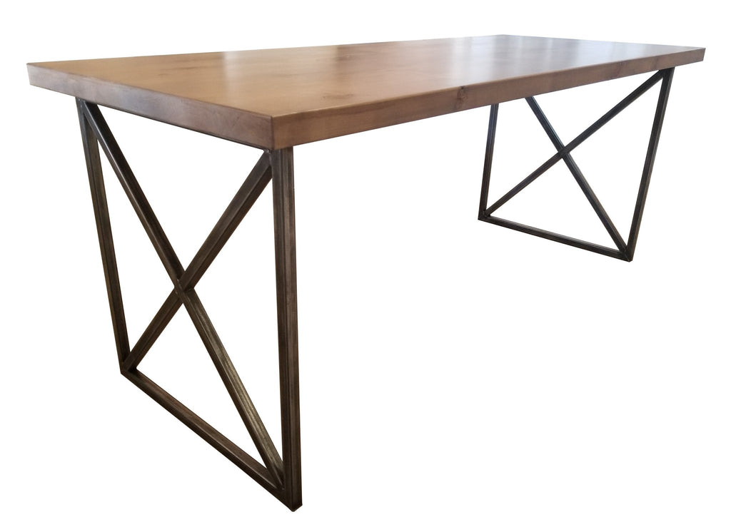 Steel and wood Contemporary Writing Desk.