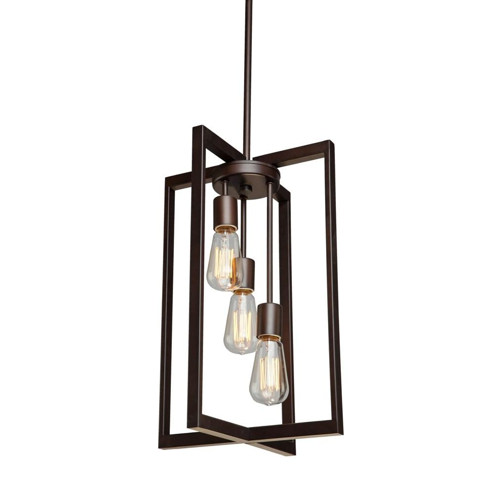 3 Bulb Modern Oil Rubbed Bronze Chandelier